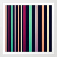 colorful lines! Art Print