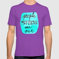 People Stress Me Out Mens Fitted Tee Ultraviolet SMALL
