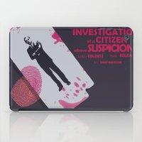 Investigation of a Citizen above Suspicion - Italian Masterpiece Movie Poster iPad Case