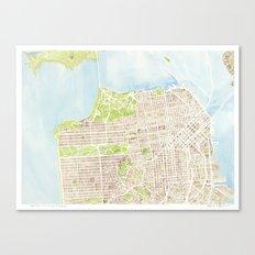 San Francisco CA City Map  Canvas Print