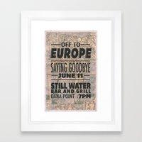 Off To Europe Framed Art Print