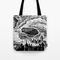Steampunk Skyline Tote Bag