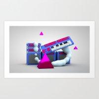 new wave pt 2 Art Print