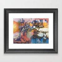 The Easter Bunny Ate My … Framed Art Print