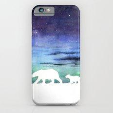 Aurora borealis and polar bears (white version) Slim Case iPhone 6s
