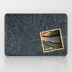 Grunge sticker of New Zealand flag iPad Case