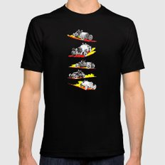 Classic Race Cars SMALL Mens Fitted Tee Black