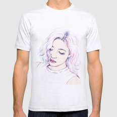 Violet Mens Fitted Tee Ash Grey SMALL