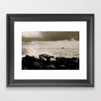 North Sea Framed Art Print