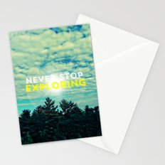 Never Stop Exploring II Stationery Cards