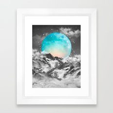 It Seemed To Chase the Darkness Away (Guardian Moon) Framed Art Print