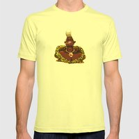 freeze those knees my chickadees Mens Fitted Tee Lemon SMALL