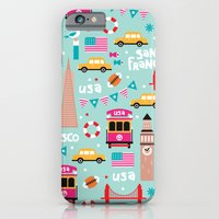 San Francisco travel - Retro style illustration pattern iPhone 6 Slim Case