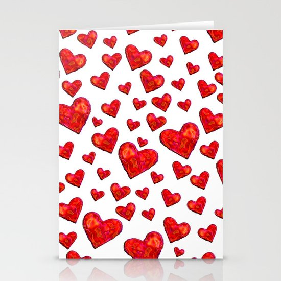 Hearts Motif Stationery Card