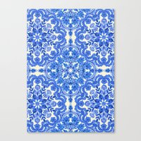 Cobalt Blue & China Whit… Canvas Print