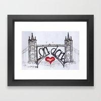 London With Love Framed Art Print