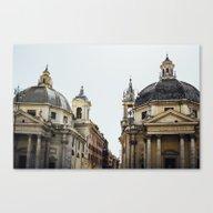 Piazza Del Popolo Rome Canvas Print