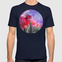 NEBULA NEW YORK Mens Fitted Tee Navy SMALL