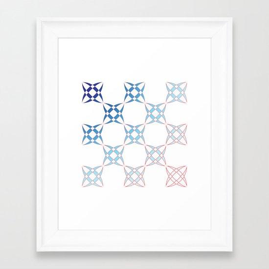 Checker C4 Framed Art Print