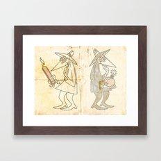 Spy Vs. Spy Framed Art Print