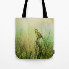 The Meadow Lark Sings Tote Bag