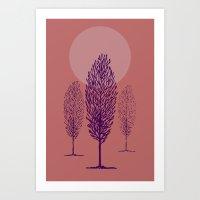 rosa di sera Art Print