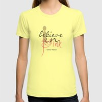 I Believe In Pink Audrey… Womens Fitted Tee Lemon SMALL