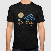 Ski West Philly Mens Fitted Tee Tri-Black SMALL