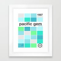 pacific gem single hop Framed Art Print