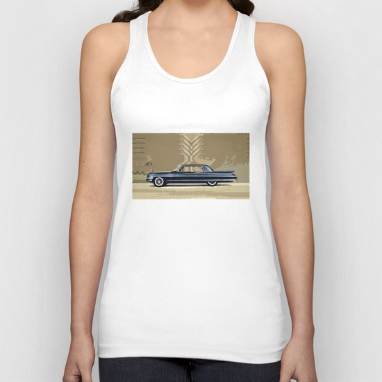 1961 Cadillac Fleetwood Sixty-Special ~ An Artist's Impression  Unisex Tank Top