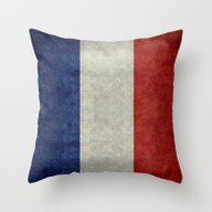 Throw Pillow featuring Flag Of France, Vintage … by Bruce Stanfield