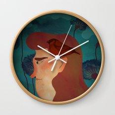 lady with bird Wall Clock