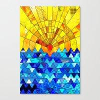 Sun & Sea Collage Canvas Print
