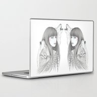 White Feather Laptop & iPad Skin