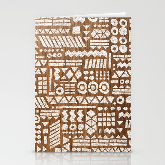 Northwoods Pattern. Stationery Card