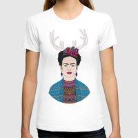 deer T-shirts featuring DEER FRIDA by Bianca Green