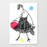 Dame Oiselle / Birdy Canvas Print