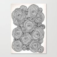 Bear Squiggles Canvas Print