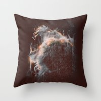 DARK LION #2 Throw Pillow
