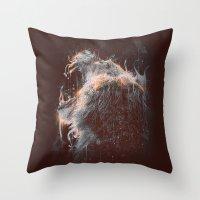 DARK LION #2 Throw Pillow