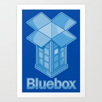 Bluebox Art Print