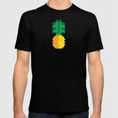 Fruit: Pineapple Mens Fitted Tee SMALL Black