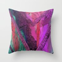 Purple Chevron Throw Pillow