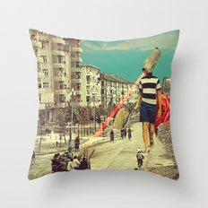 FisherCam Throw Pillow