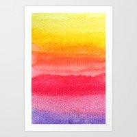 Colorful Watercolor Brus… Art Print
