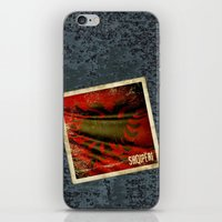 Grunge sticker of Albania flag iPhone & iPod Skin