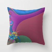 wet paint fractal  Throw Pillow