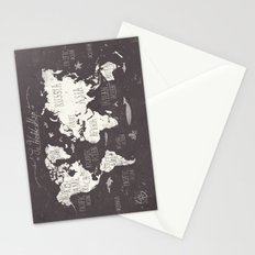 The World Map Stationery Cards