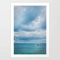Boat on the water Art Print