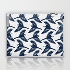 White Wagtails Pattern Laptop & iPad Skin